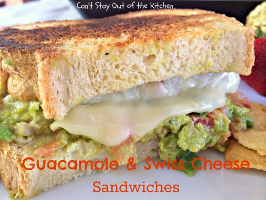 Guacamole and Swiss Cheese Sandwiches - IMG_8139