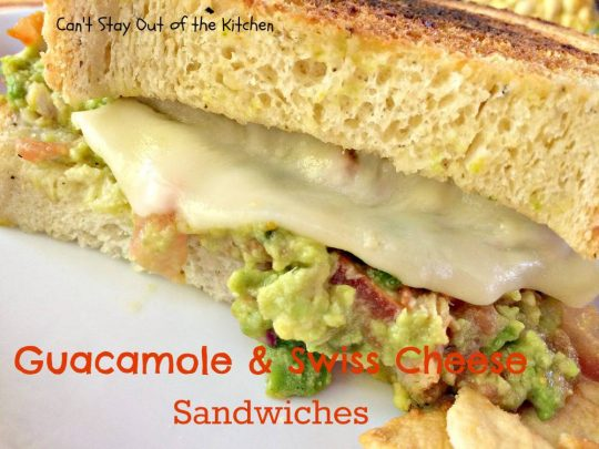 Guacamole and Swiss Cheese Sandwiches - IMG_8144