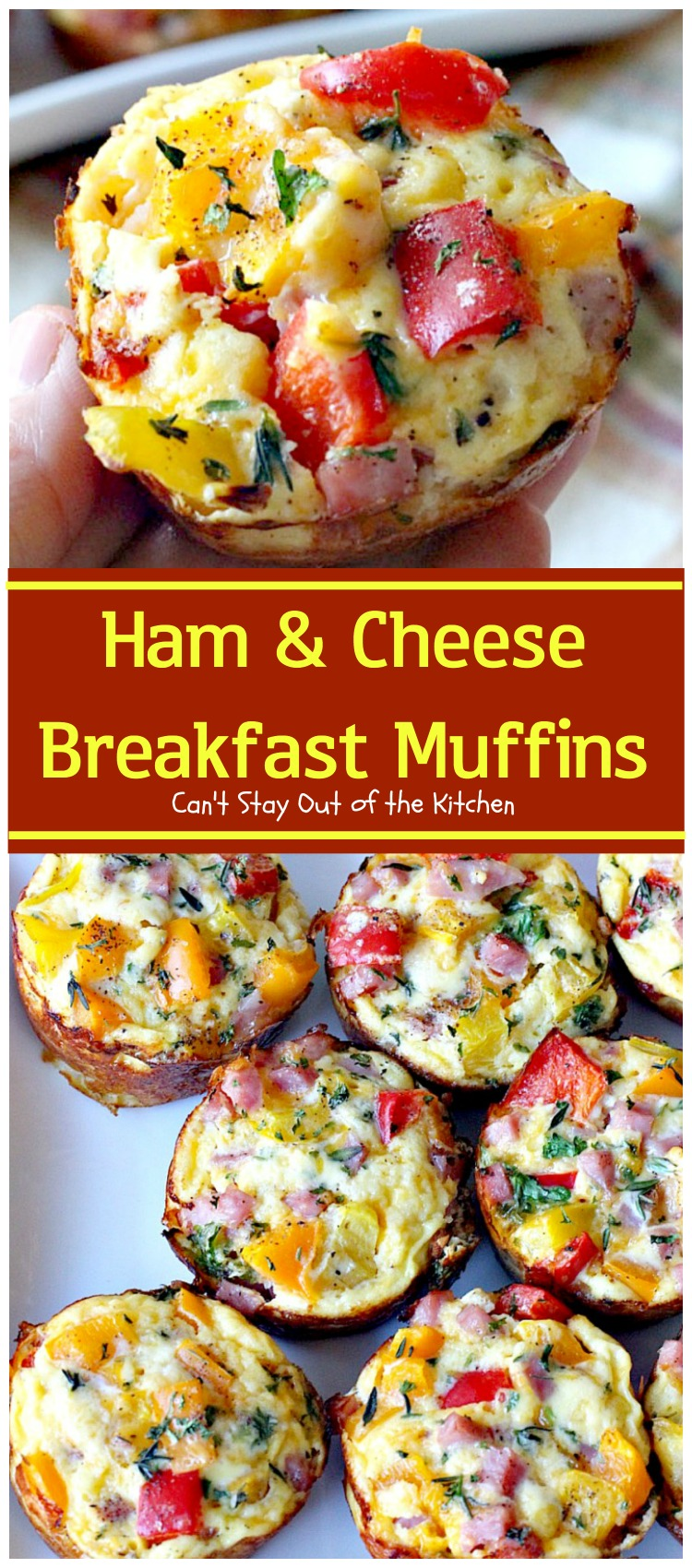 Ham and Cheese Breakfast Muffins - Can't Stay Out of the ...