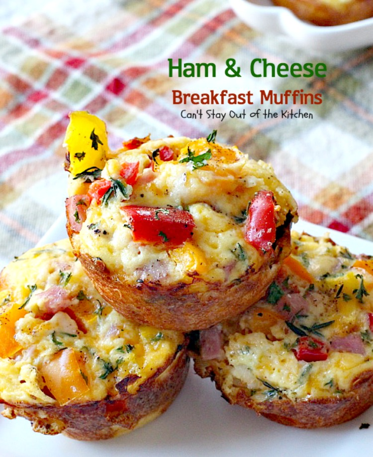 ... and bell peppers add a delicious savory flavor to these muffins