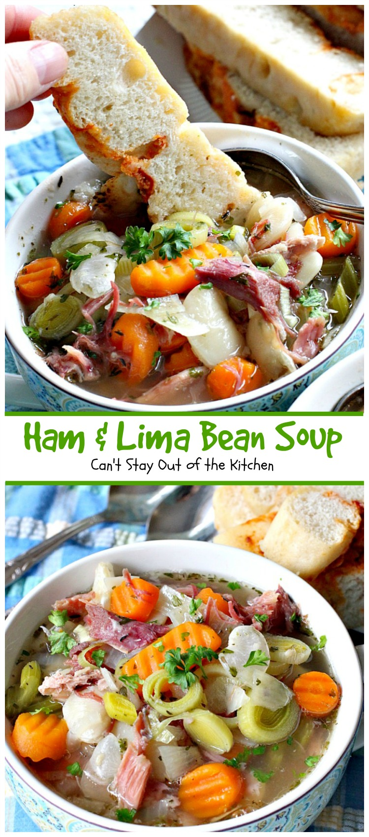 Ham and Lima Bean Soup | Can't Stay Out of the Kitchen