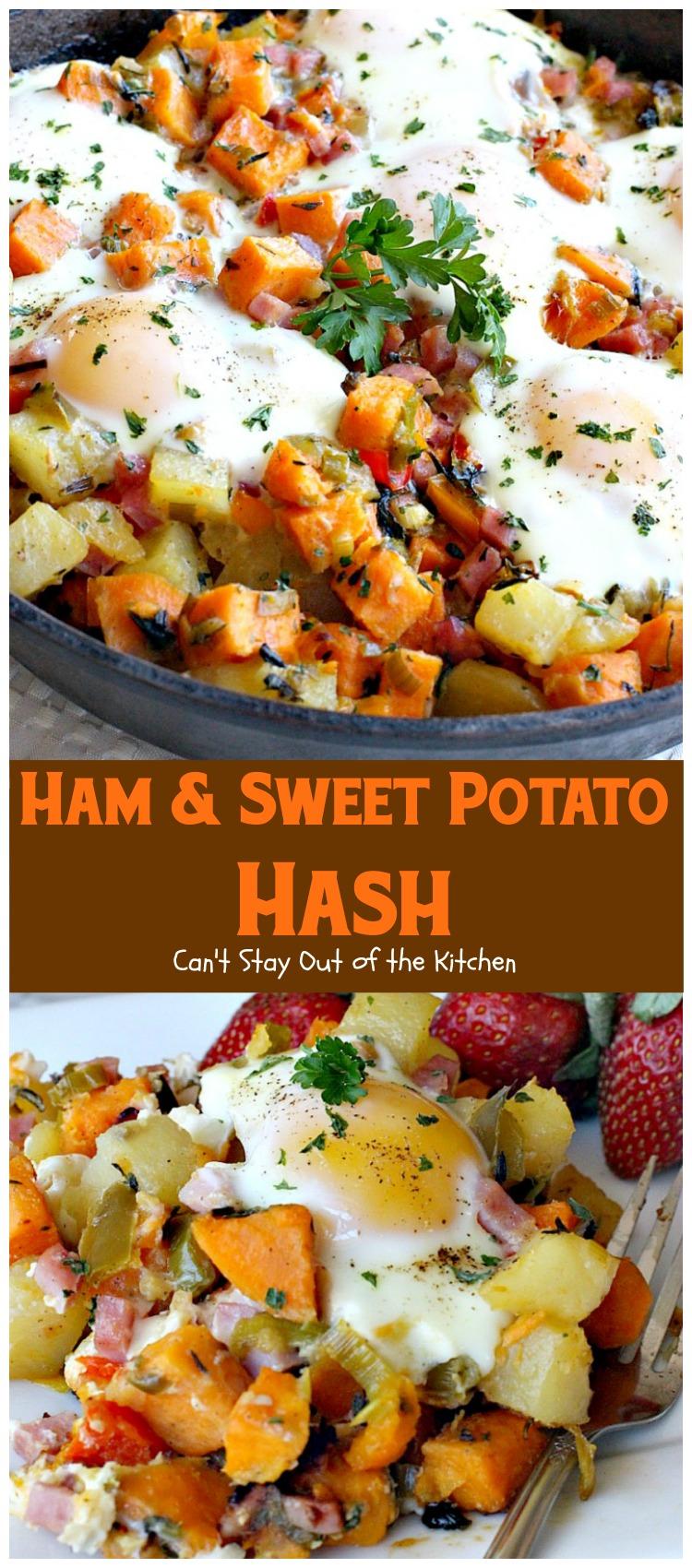 Ham and Sweet Potato Hash
