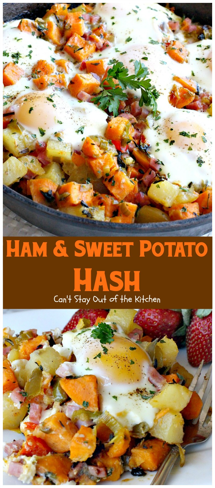 Ham and Sweet Potato Hash - Can't Stay Out of the Kitchen