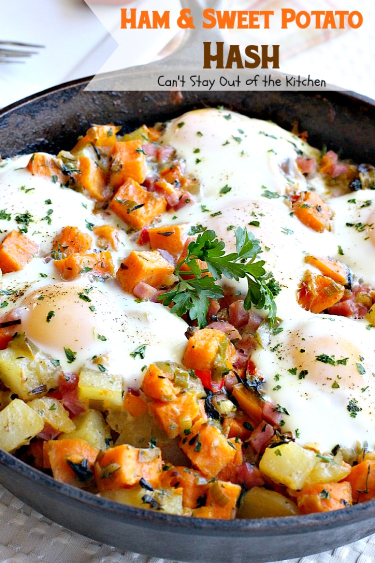 Ham & Sweet Potato Hash | Can't Stay Out of the Kitchen