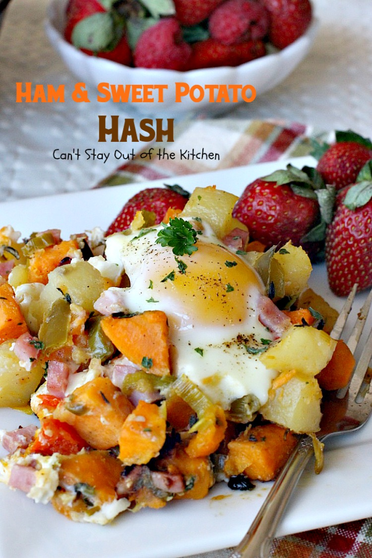 Ham and Sweet Potato Hash is a healthier entree with lots of fresh ...