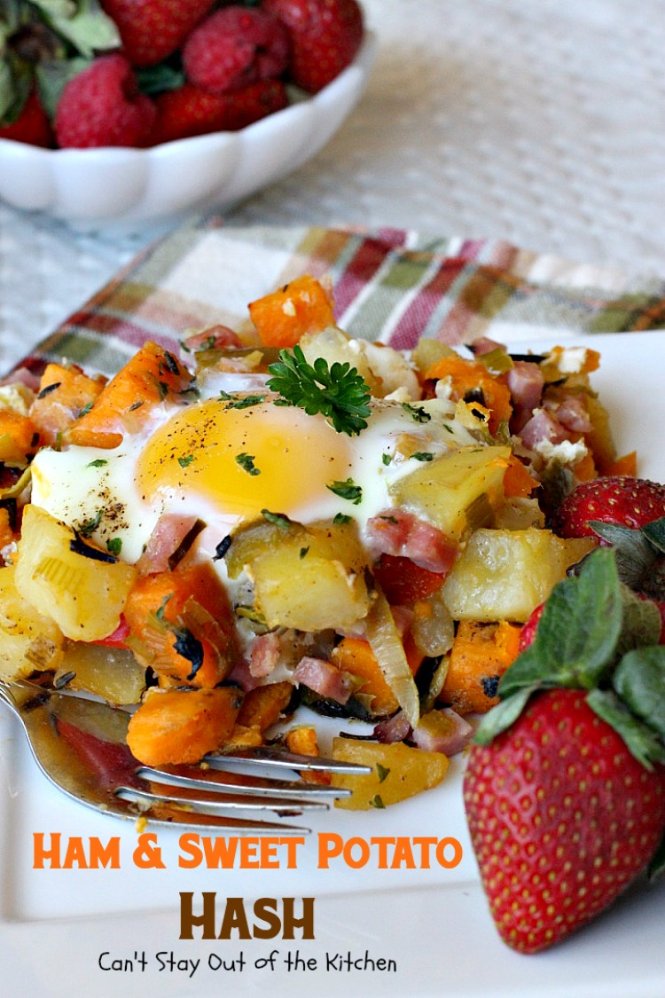 Ham and Sweet Potato Hash | Can't Stay Out Of The Kitchen | Bloglovin ...