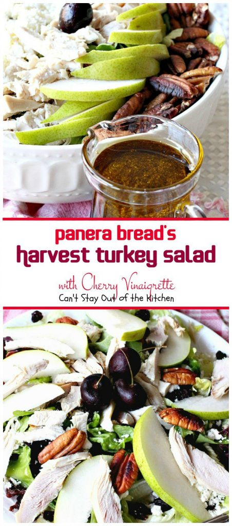 Harvest Turkey Salad with Cherry Vinaigrette | Can't Stay Out of the Kitchen