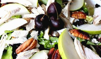 Harvest Turkey Salad with Cherry Vinaigrette