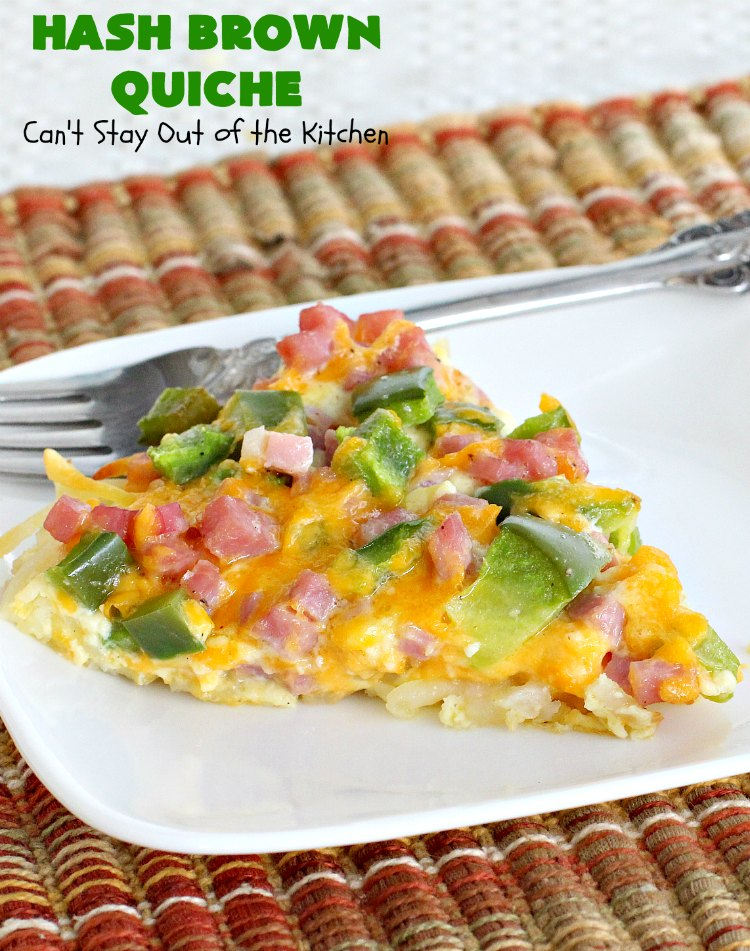Hash Brown Quiche Can T Stay Out Of The Kitchen