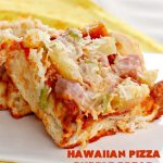 Hawaiian Pizza Bubble Bread   Can't Stay Out of the Kitchen   this easy 6-ingredient recipe can be served as a #bread, an #appetizer, or a #pizza main dish. It's incredibly good and terrific for #tailgating or #SuperBowl parties. #ham #mozzarella