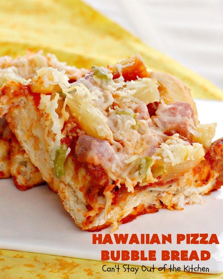 Hawaiian Pizza Bubble Bread