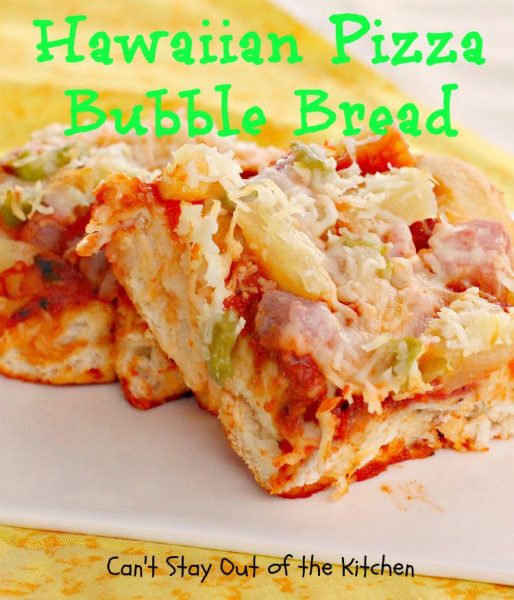 Hawaiian Pizza Bubble Bread - IMG_1603