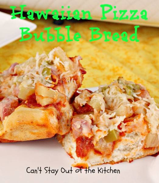 Hawaiian Pizza Bubble Bread - IMG_1617