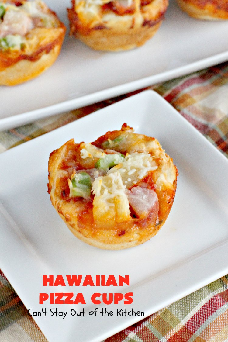 Hawaiian Pizza Cups