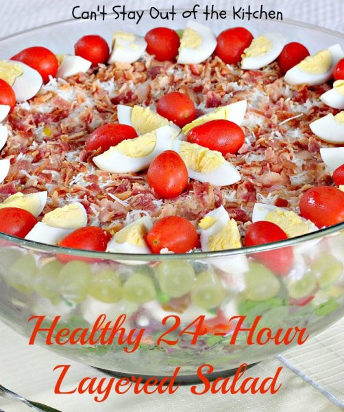 Healthy 24-Hour Layered Salad | Can't Stay Out of the Kitchen