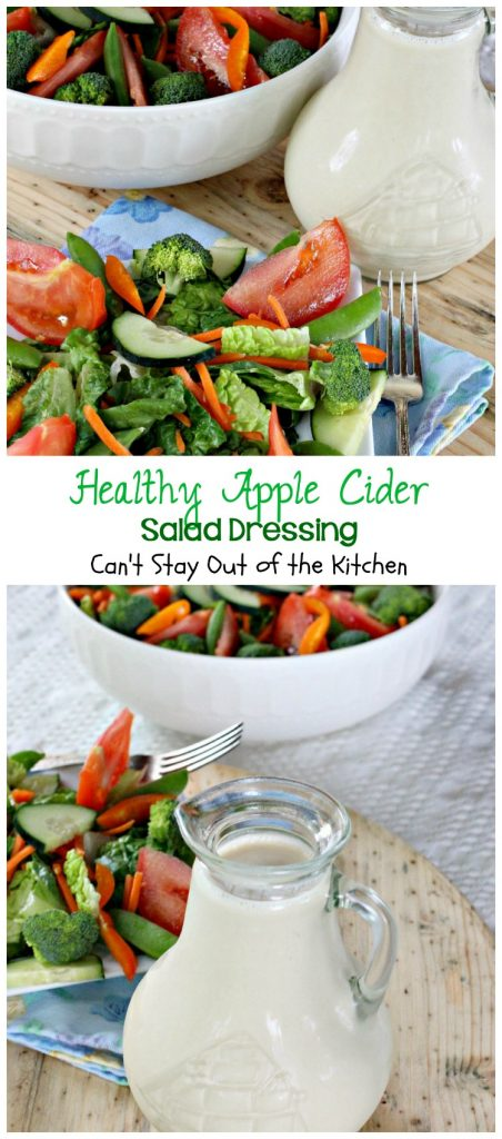 Healthy Apple Cider Salad Dressing | Can't Stay Out of the Kitchen