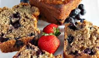 Healthy Blueberry Banana Nut Bread