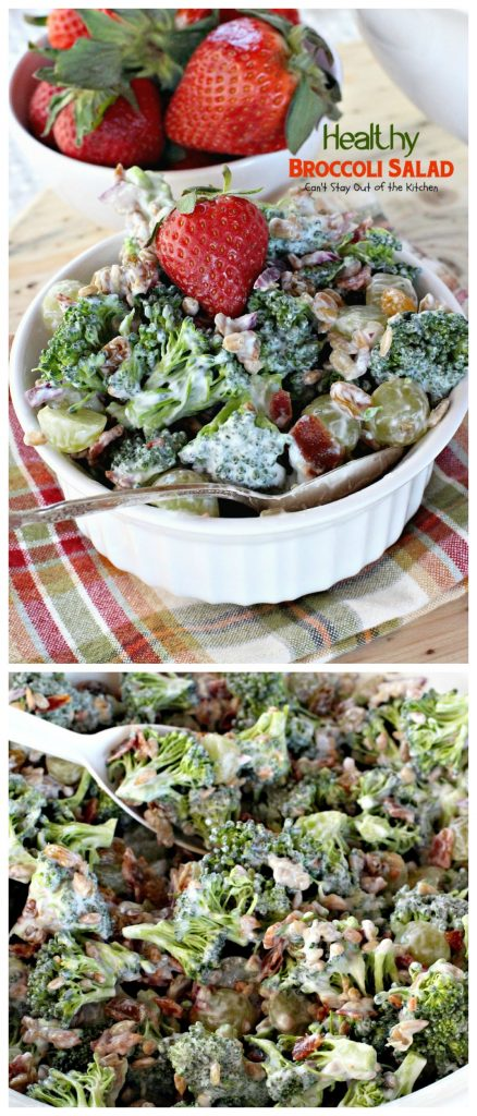 Healthy Broccoli Salad | Can't Stay Out of the Kitchen