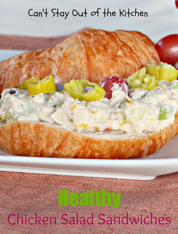 Healthy Chicken Salad Sandwiches - Can't Stay Out of the Kitchen
