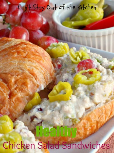 Healthy Chicken Salad Sandwiches | Can't Stay Out of the Kitchen