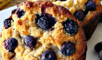 Healthy Gluten Free Banana Blueberry Muffins