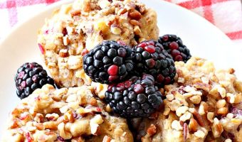 Healthy Gluten Free Blackberry Muffins