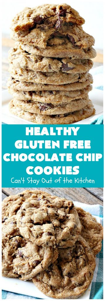 Healthy Gluten Free Chocolate Chip Cookies | Can't Stay Out of the Kitchen