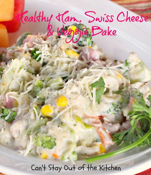 Healthy Ham, Swiss Cheese and Veggie Bake - IMG_1721