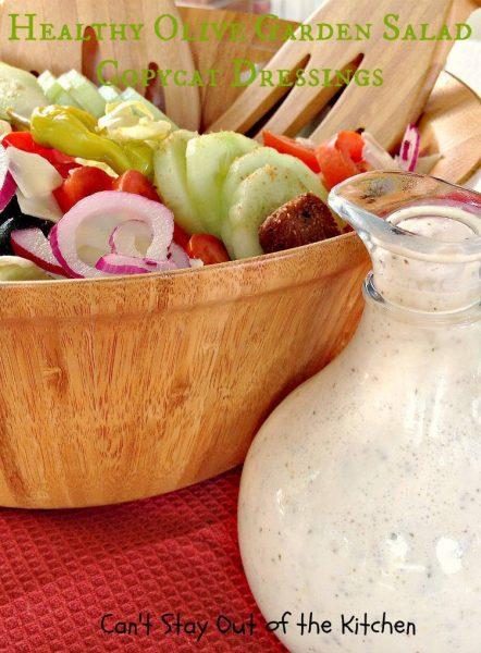 Healthy Olive Garde Salad Copycat Dressings - IMG_5026