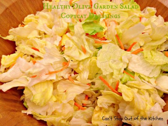 Healthy Olive Garden Salad Copycat Dressings - IMG_4700