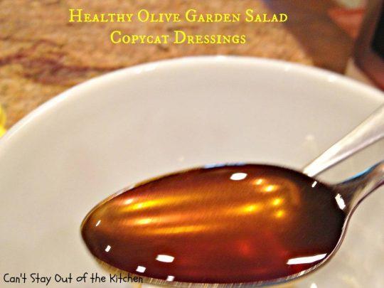 Healthy Olive Garden Salad Copycat Dressings - IMG_4936