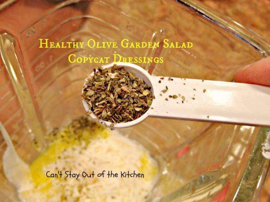 Healthy Olive Garden Salad Copycat Dressings - IMG_4941
