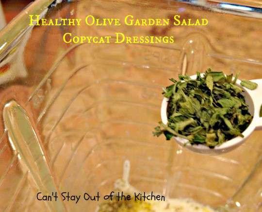 Healthy Olive Garden Salad Copycat Dressings - IMG_4942