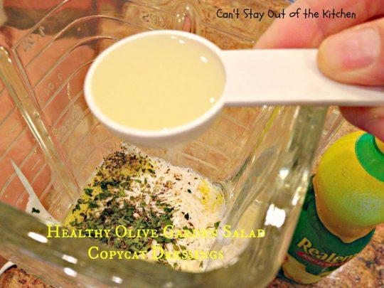 Healthy Olive Garden Salad Copycat Dressings - IMG_4943
