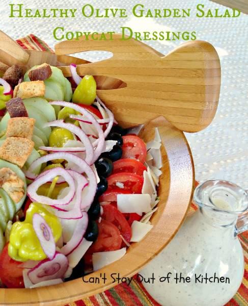Healthy Olive Garden Salad Copycat Dressings - IMG_4976