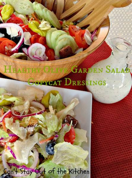 Healthy Olive Garden Salad Copycat Dressings - IMG_5038
