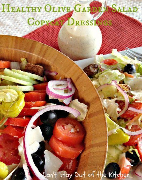Healthy Olive Garden Salad Copycat Dressings - IMG_5040