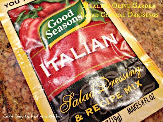 Healthy Olive Garden Salad Copycat Dressings - IMG_5710