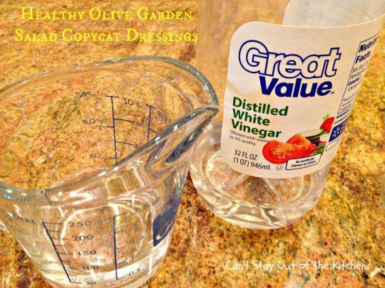 Healthy Olive Garden Salad Copycat Dressings - IMG_5711