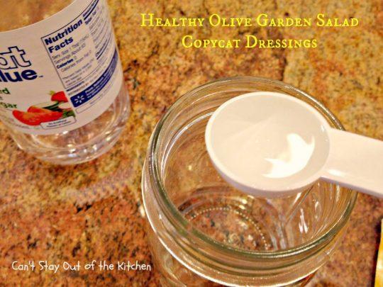 Healthy Olive Garden Salad Copycat Dressings - IMG_5712