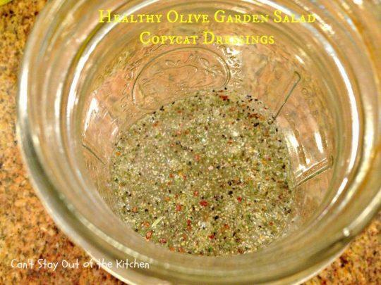 Healthy Olive Garden Salad Copycat Dressings - IMG_5715
