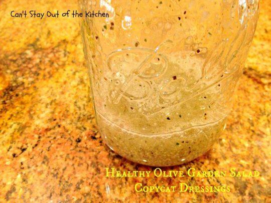Healthy Olive Garden Salad Copycat Dressings - IMG_5716
