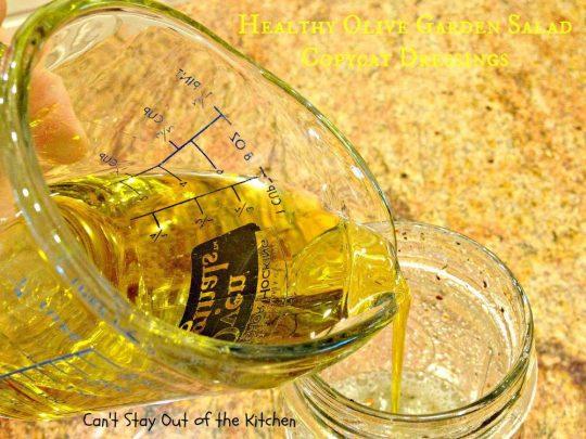 Healthy Olive Garden Salad Copycat Dressings - IMG_5717