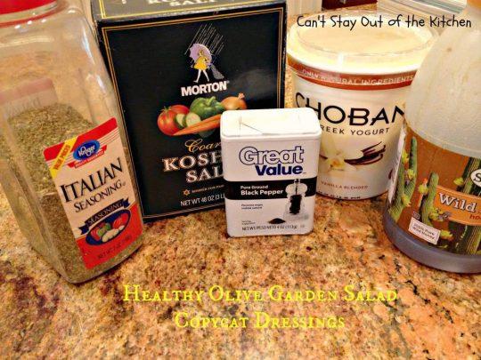 Healthy Olive Garden Salad Copycat Dressings - IMG_5718