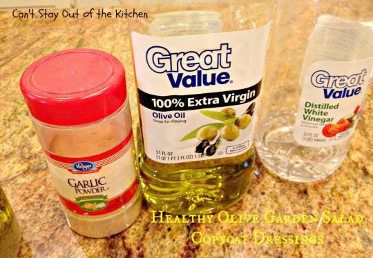 Healthy Olive Garden Salad Copycat Dressings - IMG_5719