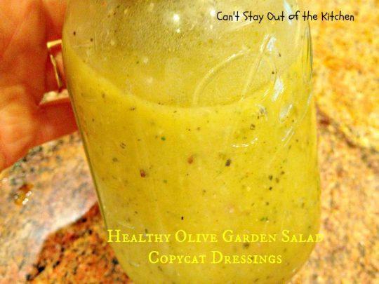 Healthy Olive Garden Salad Copycat Dressings - IMG_5723