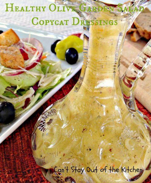 Healthy Olive Garden Salad Copycat Dressings - IMG_5731