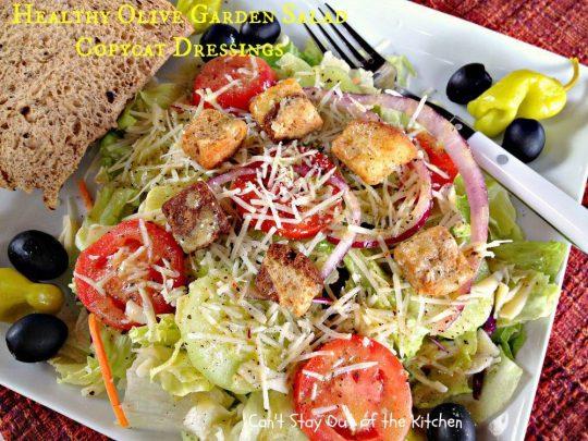 Healthy Olive Garden Salad Copycat Dressings - IMG_5742