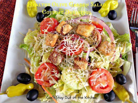 Healthy Olive Garden Salad Copycat Dressings - IMG_5746