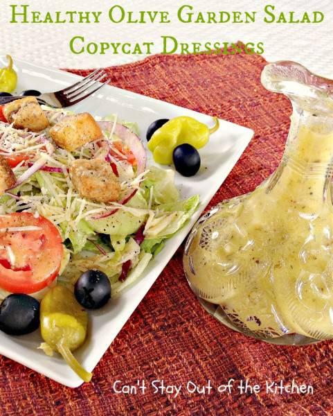 Healthy Olive Garden Salad Copycat Dressings - IMG_5756